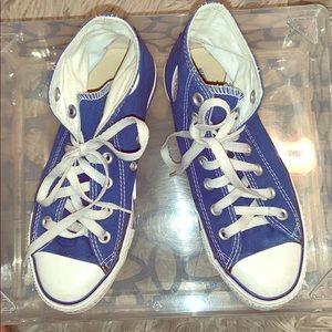 Blue💙High top Converse Sneakers